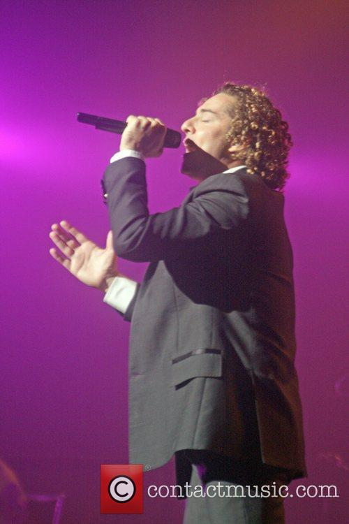 David Bisbal performs live at the Luis A....