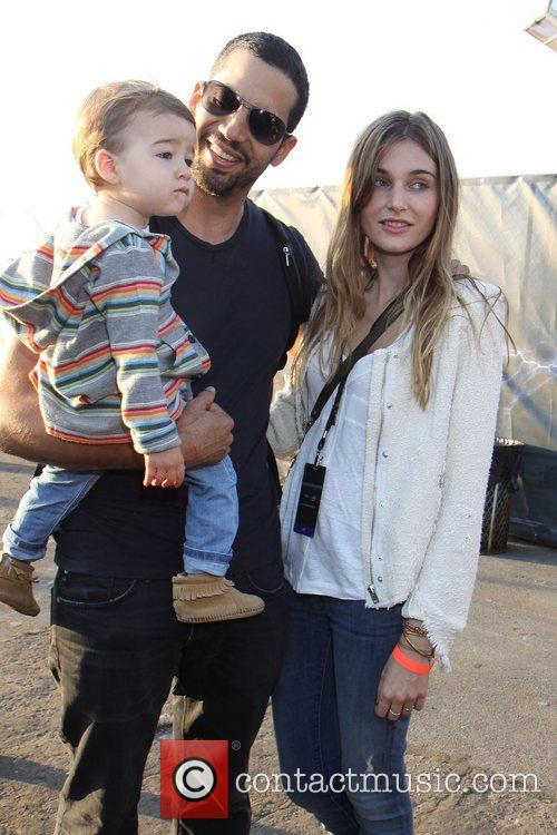 David Blaine, fiancee Alizee Guinochet and their daughter...