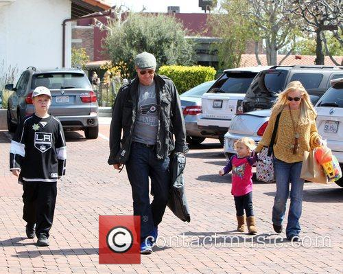David Boreanaz and his family arrive at the...