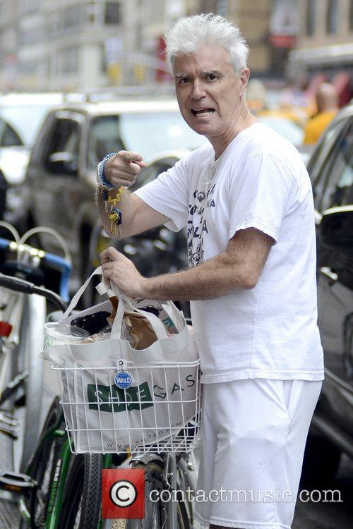 Former Talking Heads frontman returns to his bicycle...