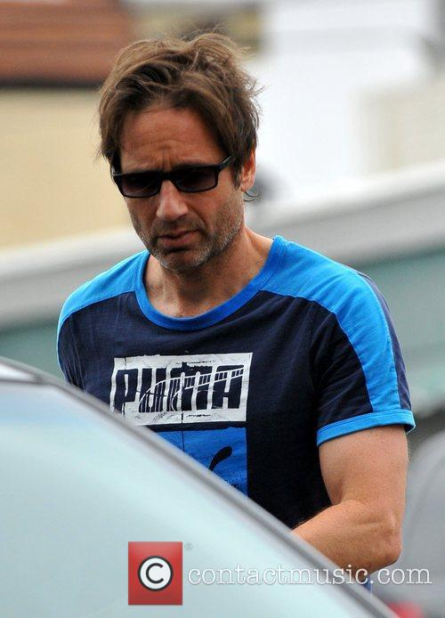 david duchovny leaves a restaurant in brentwood 3876685