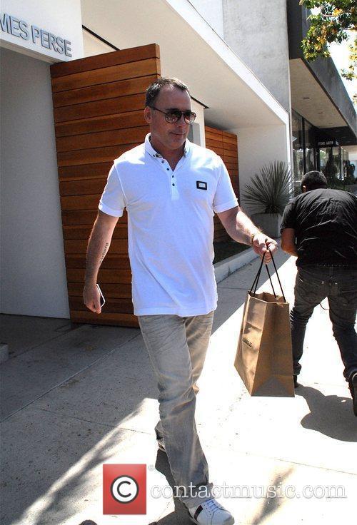 David Furnish shopping in West Hollywood Hollywood, California...