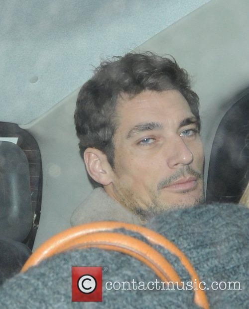 David Gandy leaving Raffles nightclub in London