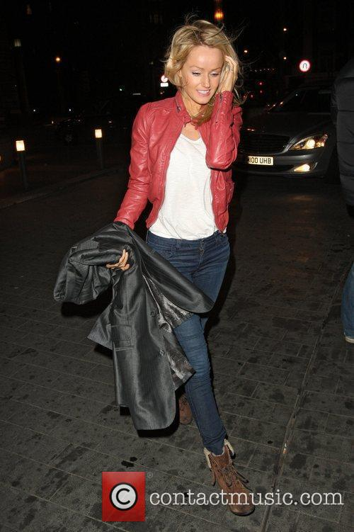 Hayley Roberts leaving Sainsbury's in Mayfair and heads...