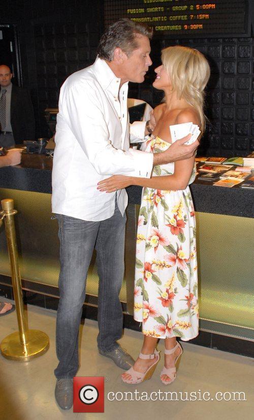 David Hasselhoff and Hayley Roberts at a screening...
