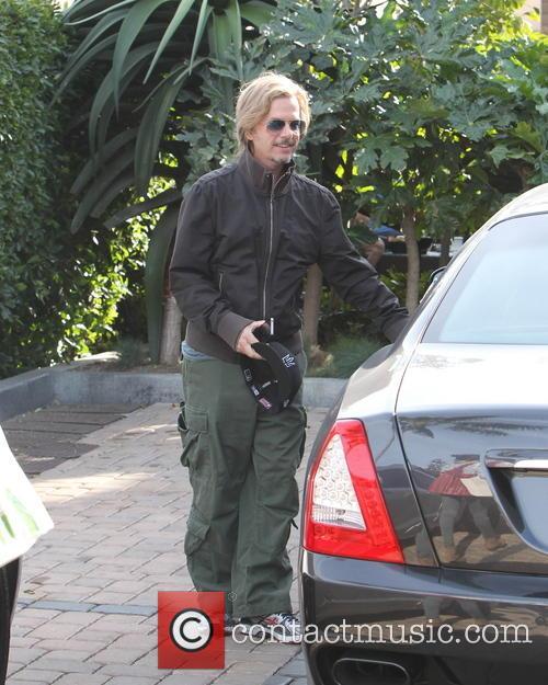 David Spade David Spade dressed csually outside Cafe...