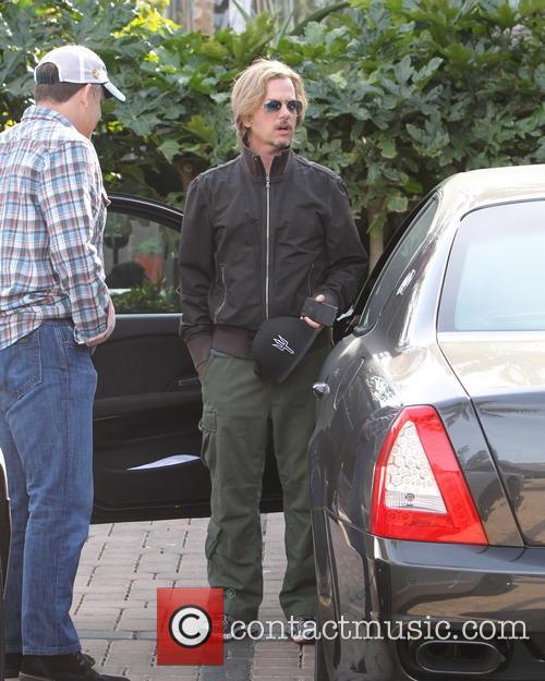 David Spade dressed csually outside Cafe Habana Malibu