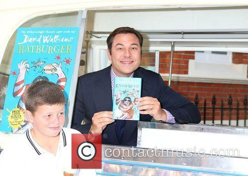 David Walliams promotes his new book entitled 'Ratburger'...