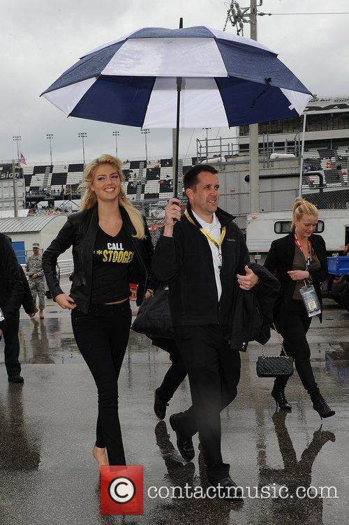 Celebrities appear at the Daytona International Speedway