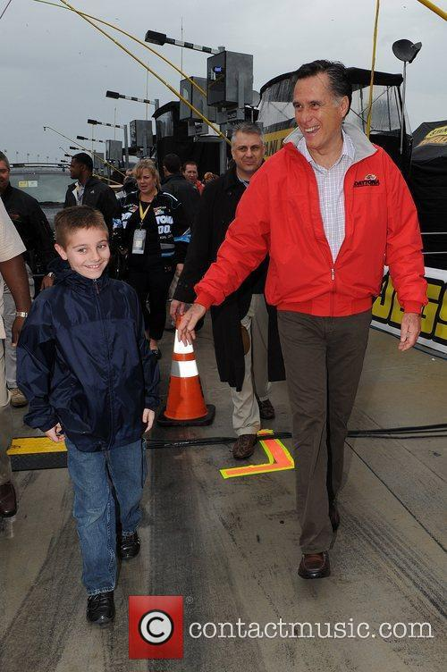 Celebrities appear at the Daytona International Speedway