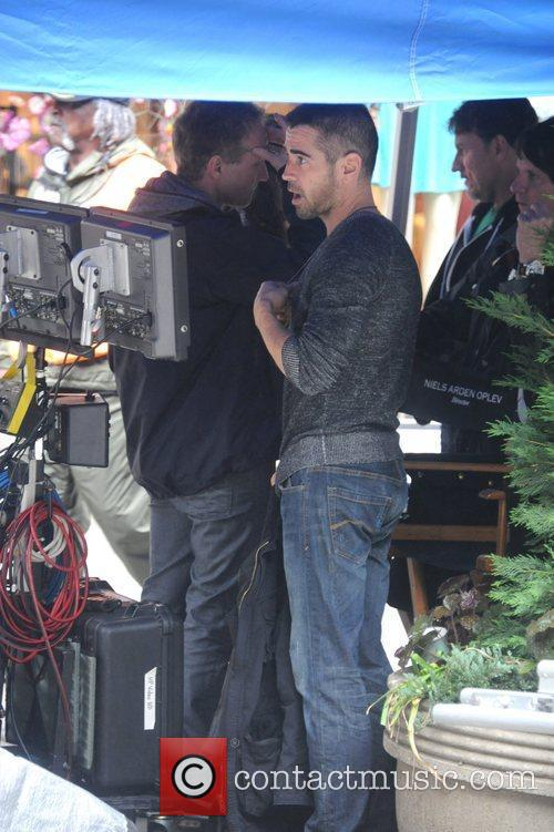 Colin Farrell  on the set of 'Dead...