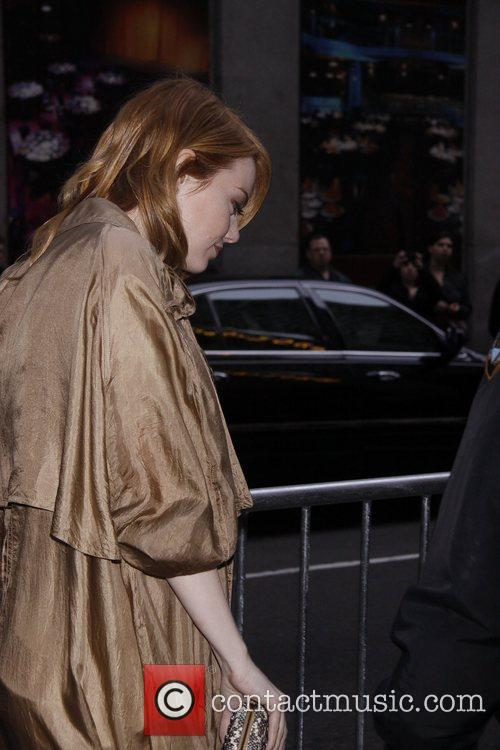 Emma Stone avoiding the press line for her...