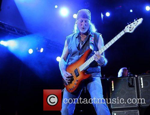 deep purples roger glover performing on stage 3634471