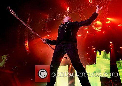 Joe Elliott of Def Leppard performing live at...