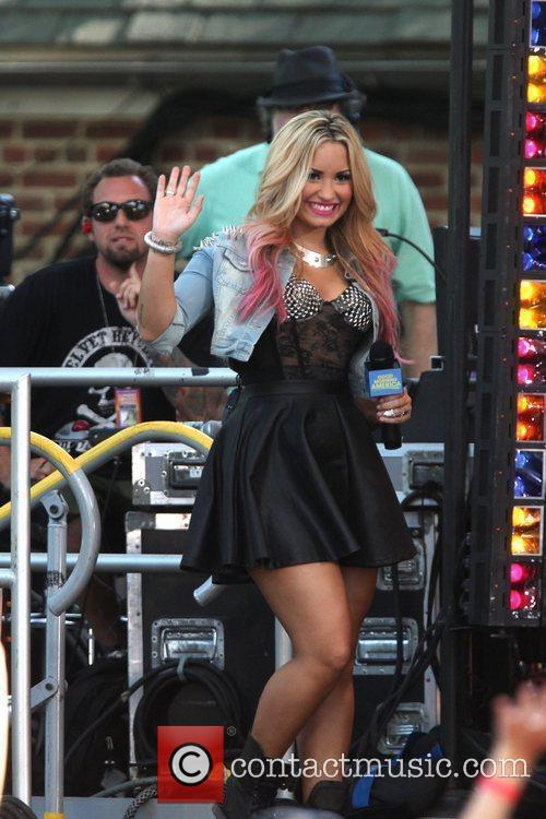 Demi Lovato performs live in Central Park as...