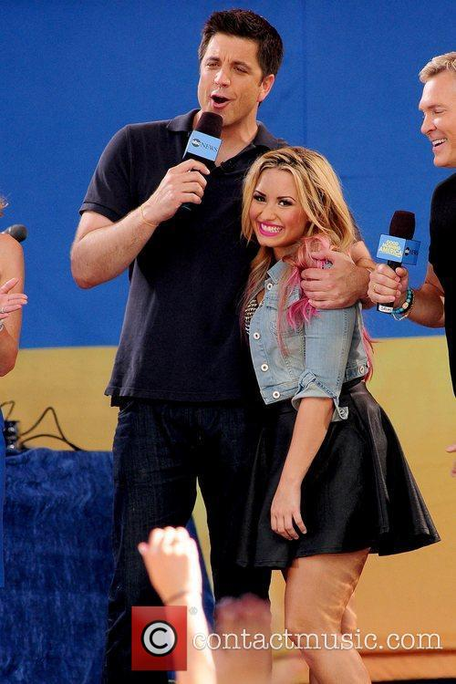 Josh Elliott and Demi Lovato  after her...