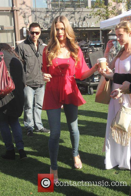 Denise Richards makes an appearance on 'Extra' at...