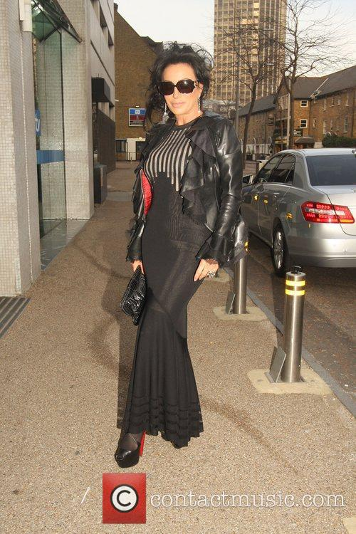 Nancy Dell'Olio Celebrities arrive at the recording of...