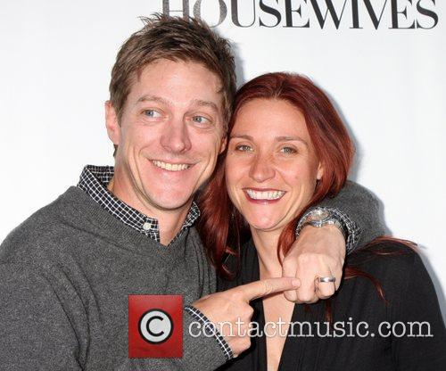 Kevin Rahm and Guest 'Desperate Housewives' finale party...