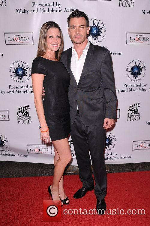 Actor Aiden Turner (R) and model Amanda Lockwood...