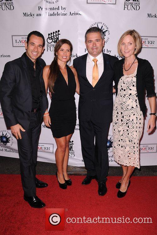 Helio Castroneves, Adriana Henao, Gil De Ferran, Guest...