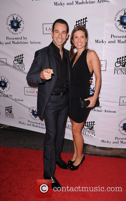 Helio Castroneves and Adriana Henao attends  Destination...