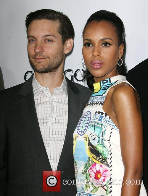 Kerry Washington and Toby Maguire Los Angeles Premiere...