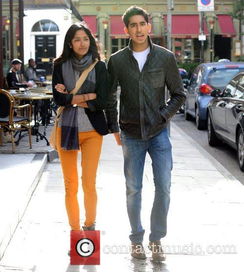 Dev Patel seen out in west London with...