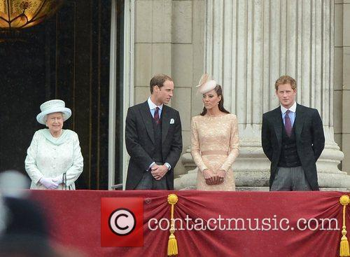 Queen Elizabeth Ii, Prince Harry and Prince William 6