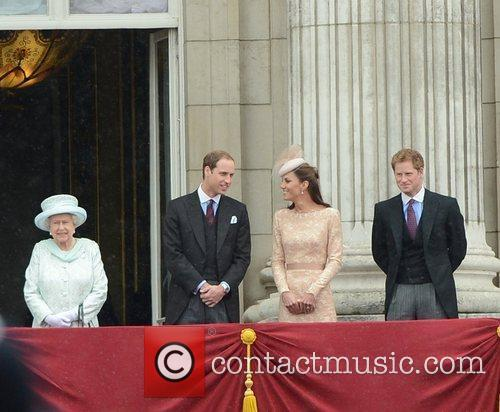 Queen Elizabeth Ii, Prince Harry and Prince William 7