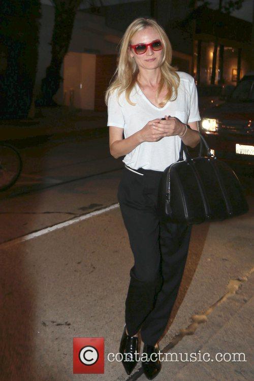 Actress Diane Kruger  seen leaving Salon Benjamin...
