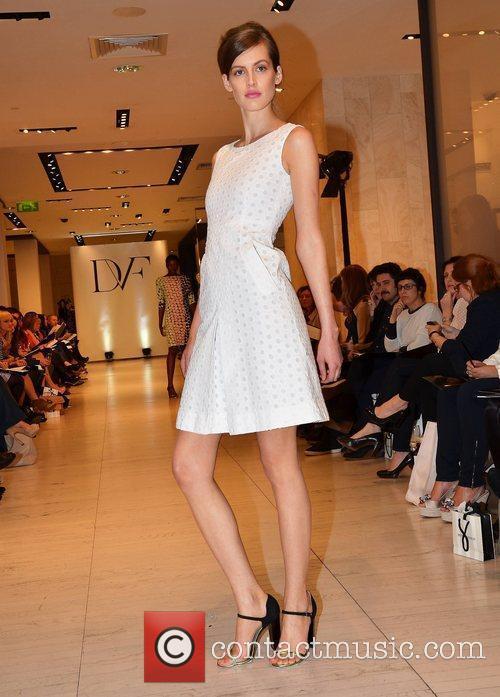 Diane Von Furstenberg Spring/Summer 2012 'Beginnings' Collection Show...