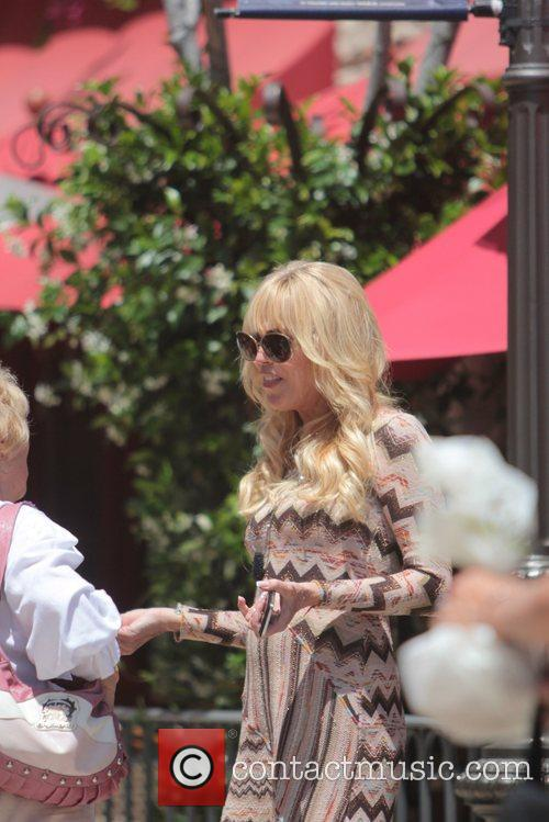 Dina Lohan  seen having lunch with friends...