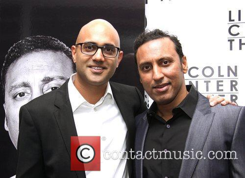 Ayad Akhtar and Aasif Mandvi  attending the...
