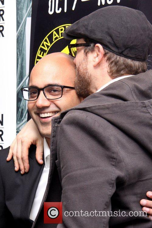 Ayad Akhtar and Erik Jensen attending the opening...