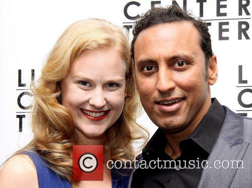 heidi armbruster and aasif mandvi attending the 4139425