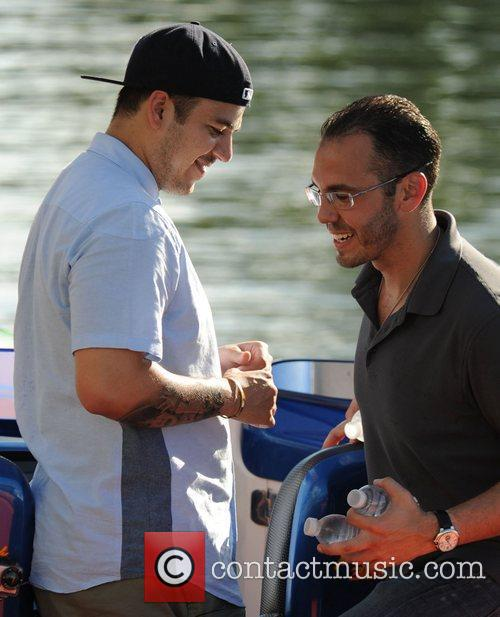 Robert Kardashian goes for a boat ride in...