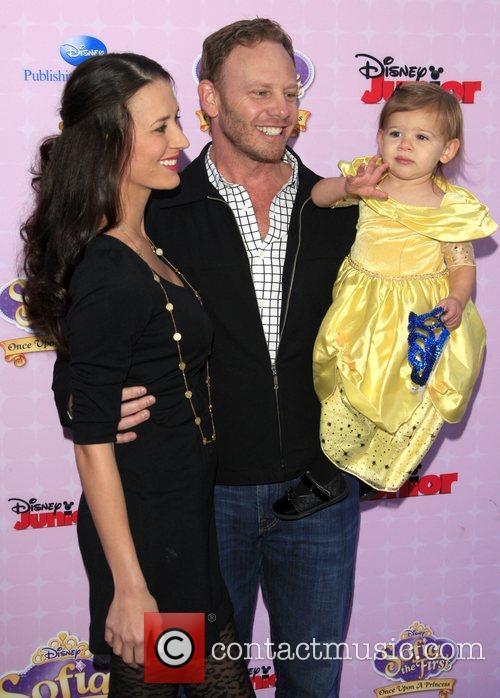 Ian Ziering, wife Erin and daughter Mia Los...