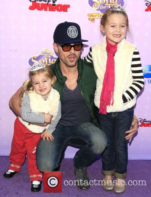Joey Lawrence and his daughters Liberty and Charleston...