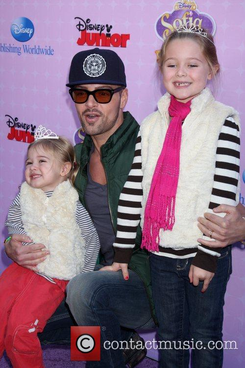 Joey Lawrence and family Red Carpet Premiere of...