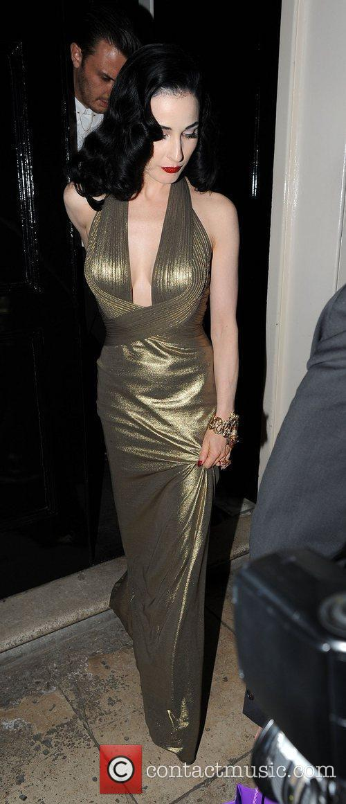 Dita Von Teese leaving The Arts Club with...