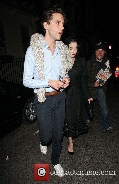 Mika and Dita Von Teese leave the Arts...