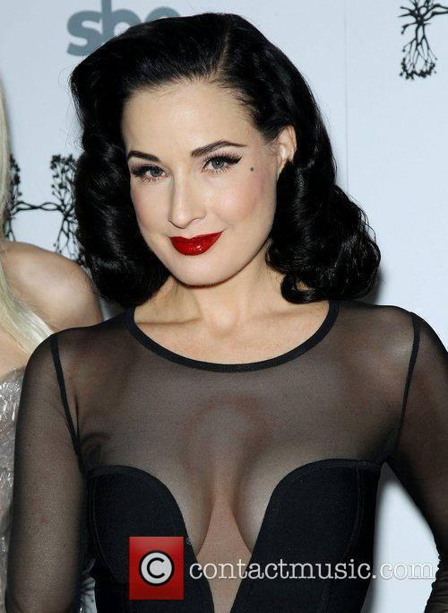 Dita Von Teese arrives for a performance at...