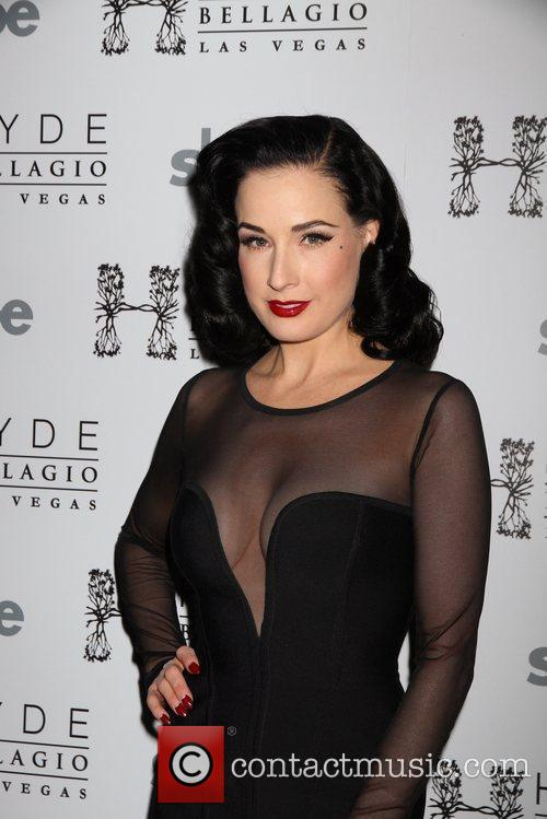 Dita Von Teese  arrives for a performance...