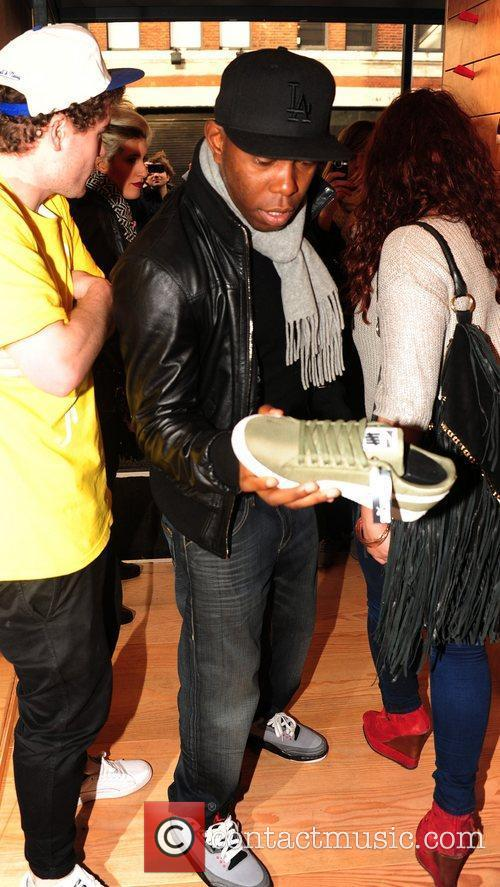 Dizzee Rascal shopping at the opening of 'Boxpark',...