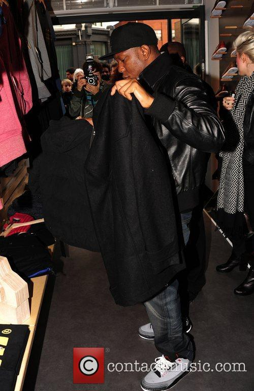 dizzee rascal shopping at the opening of 3639219