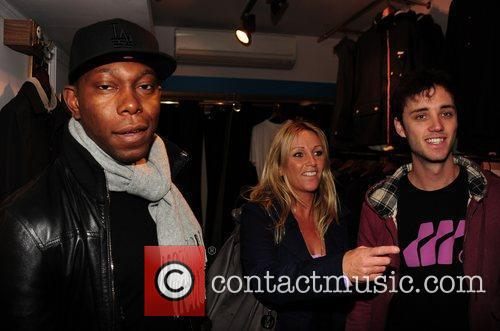 dizzee rascal shopping at the opening of 3639227