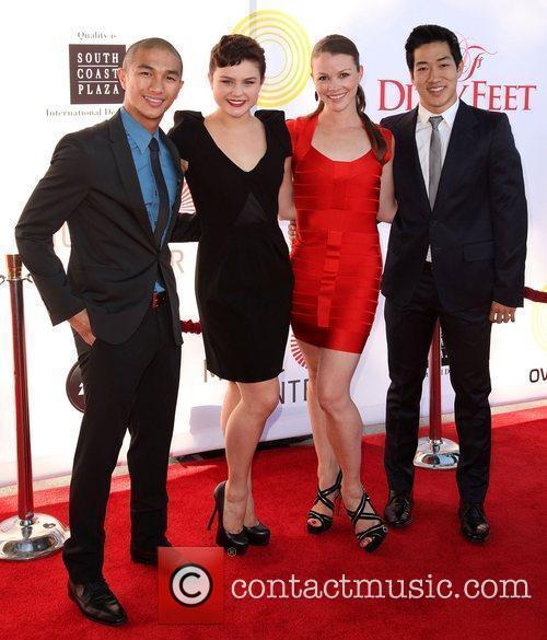 Dancers Marko Germar, Melanie Moore, Melissa Sandvig, and...