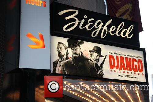 The Weinstein Company Presents, Django Unchained, Quentin Taratino and Zeigfeld Theater 9