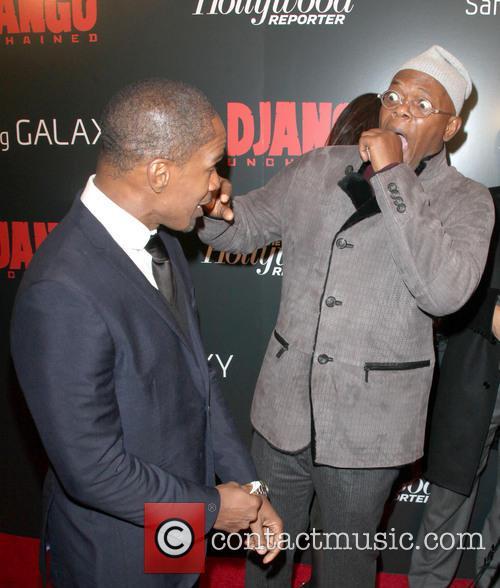 Jamie Foxx, Samuel L Jackson, Django Unchained Premiere
